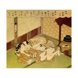 Two Lovers, C1750 Giclee Print by Suzuki Harunobu