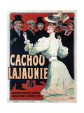 Cachou Lajaunie. Recommandé Aux Fumeurs Chauffeurs Cyclistes Etc, C. 1890 Giclée-vedos tekijänä Francisco Tamagno