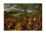 The Gloomy Day (Early Sprin), 1565 Giclee-trykk av Pieter Bruegel the Elder