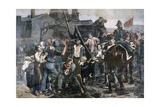 The Miner's Strike in Carmaux, 1892 Giclee Print by Alfred Roll