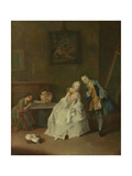 A Lady Receiving a Cavalier, 1747-1755 Giclee Print by Pietro Longhi