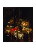 Banquet Still Life, 1667 Lámina giclée por Abraham Hendricksz van Beijeren