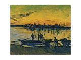 The Stevedores in Arles, 1888 Giclee-trykk av Vincent van Gogh