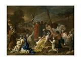 Moses and the Brazen Serpent, 1653-1654 Giclée-tryk af Sébastien Bourdon