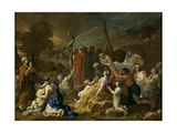 Moses and the Brazen Serpent, 1653-1654 Giclee Print by Sébastien Bourdon