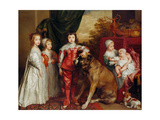 Five Eldest Children of Charles I, 1637 Giclée-Druck von Sir Anthony Van Dyck