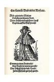 Noble Woman of Moscow. from the Frauentrachtenbuch (Frankfurt, 158), 1586 Gicléetryck av Jost Amman