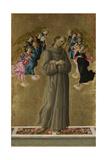 Saint Francis of Assisi with Angels, Ca 1475 Reproduction procédé giclée par Sandro Botticelli