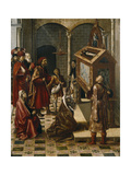 The Tomb of Saint Peter Martyr, 1493-1499 Giclée-tryk af Pedro Berruguete
