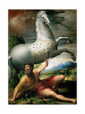 The Conversion of Saint Paul, Ca 1528 Gicléetryck av Parmigianino,