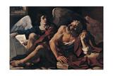 Saint Matthew and the Angel, 1622 Lámina giclée por  Guercino