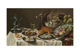 Still Life with Turkey Pie, 1627 Reproduction procédé giclée par Pieter Claesz