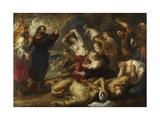 The Brazen Serpent, 1635-1640 Giclée-tryk af Peter Paul Rubens