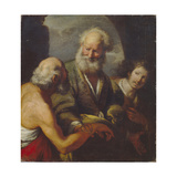 Saint Peter Healing a Paralytic Stampa giclée di Bernardo Strozzi