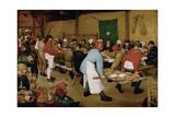 The Peasant Wedding, Ca 1568 Giclee-trykk av Pieter Bruegel the Elder