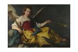 A Personification of Fame, C. 1635 Stampa giclée di Bernardo Strozzi