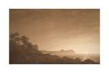 View of Arkona with Rising Moon, Ca 1806 Giclée-tryk af Caspar David Friedrich