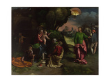The Adoration of the Kings, C.1535 Giclée-tryk af Dosso Dossi