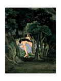 Krishna Embraced by Radha, Ca 1775 Giclée-tryk