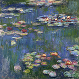 Waterlelies, 1916 Gicléedruk van Claude Monet