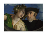 A Man Embracing a Woman, Ca 1524 Giclée-tryk af Dosso Dossi