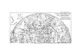 First Part of the Star Chart of the Northern Celestial Hemisphere Showing Constellations, 1747 Giclee Print