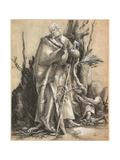Bearded Saint with Walking Stick, C. 1516 Lámina giclée por Matthias Grünewald