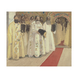 Waiting for the Tzar, 1901 Giclee Print by Andrei Petrovich Ryabushkin
