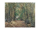 The Woods at Marly, 1871 Reproduction procédé giclée par Camille Pissarro