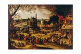 Kermis, C.1600-1605 Giclée-Druck von David Vinckboons