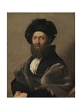 Portrait of Baldassare Castiglione, Ca 1515 Reproduction procédé giclée par  Raphael