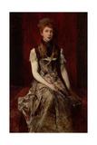 Portrait of Dora Fournier-Gabillon, Ca 1879 Giclee Print by Hans Makart