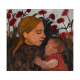 Girl with Child, 1902 Gicléetryck av Paula Modersohn-Becker