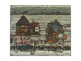 Houses with Washing Lines, 1914 Giclee Print by Egon Schiele