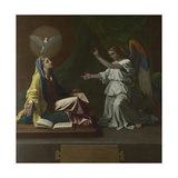 The Annunciation, 1657 Stampa giclée di Nicolas Poussin