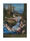Madonna with the Blue Diadem, C. 1510 Reproduction procédé giclée par  Raphael