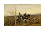 The Hunters, 1881 Giclee Print by Franz Roubaud