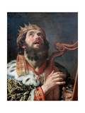 King David Playing the Harp, 1622 Giclee Print by Gerrit van Honthorst