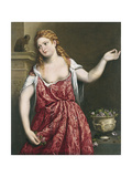 Portrait of a Young Woman Giclée-tryk af Paris Bordone