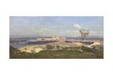 Avignon from the West, 1836 Reproduction procédé giclée par Jean-Baptiste-Camille Corot