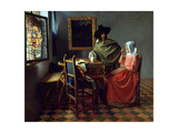 The Glass of Wine, Ca 1661 Giclee Print by Johannes Vermeer