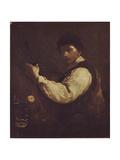 The Luteplayer Giclée-tryk af Giuseppe Maria Crespi