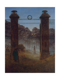 The Cemetery, Ca 1825 ジクレープリント : カスパル・ダーヴィト・フリードリヒ