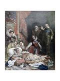 Death of Queen Elizabeth, 1892 Lámina giclée por Paul Delaroche