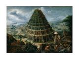 The Tower of Babel, 1595 Giclée-Druck von Marten van Valckenborch