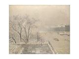 The Louvre under Snow, 1902 Reproduction procédé giclée par Camille Pissarro