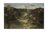 Rocky Landscape, C. 1840 Giclee Print by Théodore Rousseau