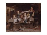 Kids at Lunch, 1857 Giclee Print by Marc Louis Benjamin Vautier