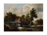 A Watermill, Ca 1665 Lámina giclée por Meindert Hobbema