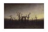 Abbey Among Oak Trees, Ca 1809 ジクレープリント : カスパル・ダーヴィト・フリードリヒ